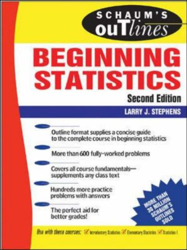 Theory and Problems of Beginning Statistics  2nd 2006 (Revised) edition cover