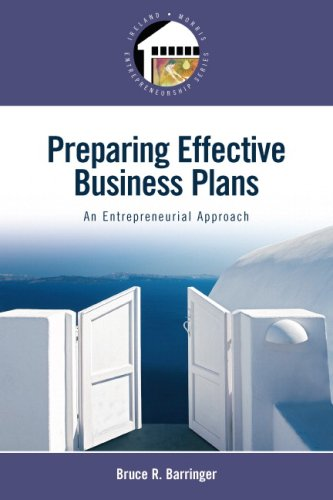 Preparing Effective Business Plans An Entrepreneurial Approach  2009 edition cover