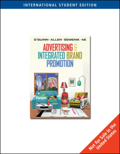 Advertising and Integrated Brand Promotion  2005 edition cover