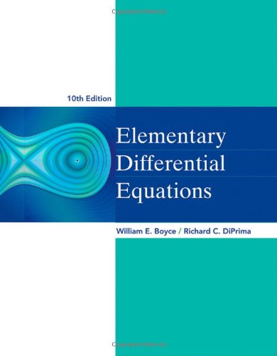 Elementary Differential Equations  10th 2013 edition cover