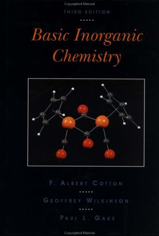 Basic Inorganic Chemistry  3rd 1995 (Revised) edition cover