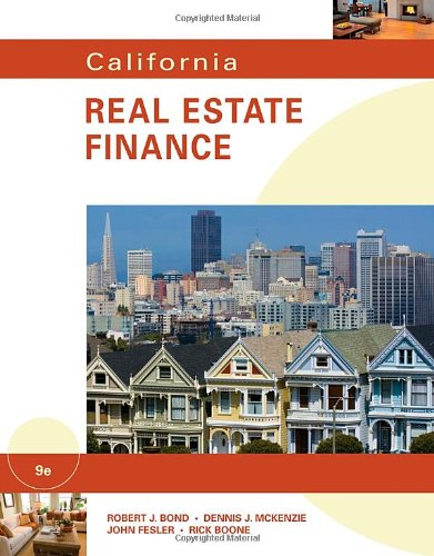 California Real Estate Finance  9th 2011 9780538798327 Front Cover