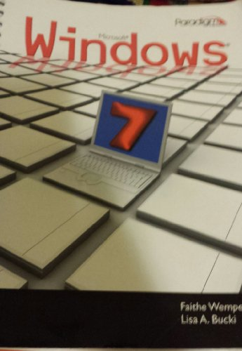 MICROSOFT WINDOWS 7 N/A edition cover