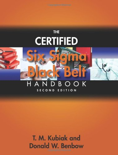Certified Six Sigma Black Belt Handbook  2nd 2008 edition cover