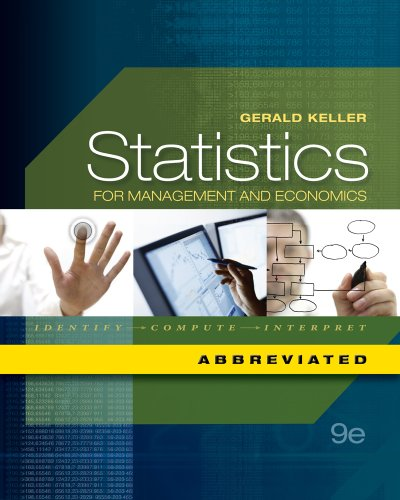 Statistics for Management and Economics  9th 2012 edition cover