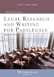 Legal Research and Writing for Paralegals  7th 9781454831327 Front Cover