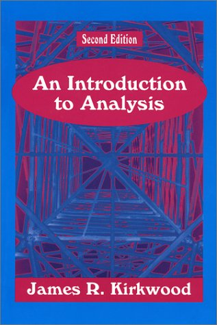 Introduction to Analysis  2nd 1995 edition cover