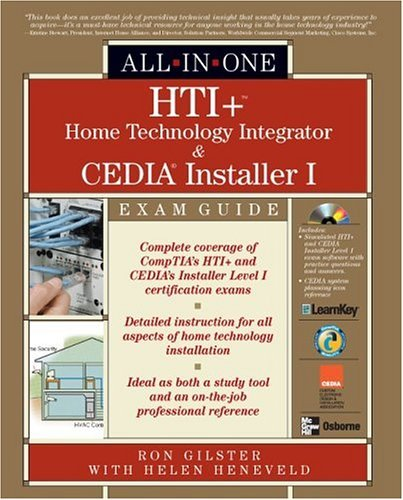 HTI+ Home Home Technology Integration and Cedia Installer I  2004 edition cover