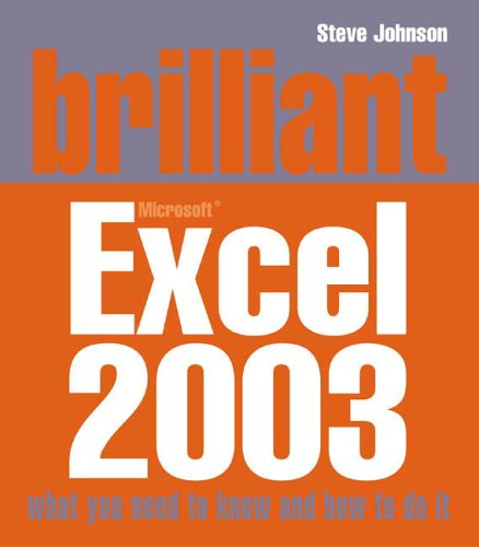 Brilliant Excel 2003 N/A edition cover