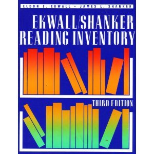 Ekwall - Shanker Reading Inventory 3rd edition cover