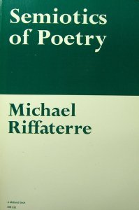 Semiotics of Poetry Reprint  9780253203328 Front Cover