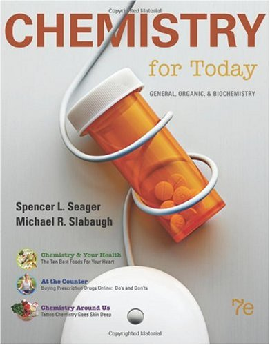 Chemistry for Today General, Organic, and Biochemistry 7th 2011 edition cover