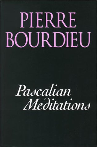 Pascalian Meditations   2000 edition cover