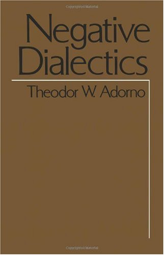 Negative Dialectics  2nd edition cover