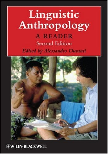 Linguistic Anthropology A Reader 2nd 2009 edition cover