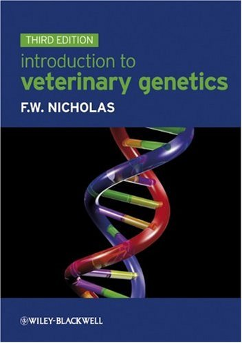 Introduction to Veterinary Genetics  3rd 2010 edition cover