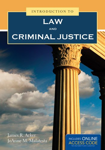Introduction to Law and Criminal Justice   2014 edition cover
