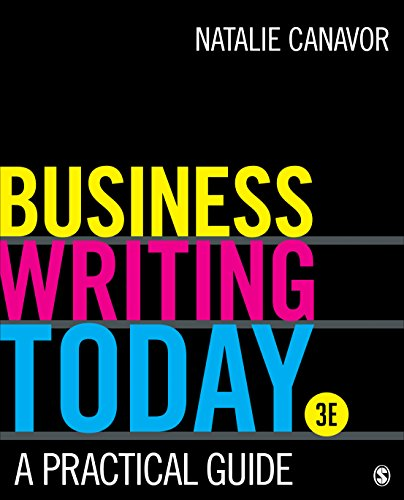 Business Writing Today A Practical Guide 3rd 2019 9781506388328 Front Cover