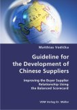 Guideline for the Development of Chinese Suppliers N/A edition cover