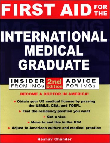 First Aid for the International Medical Graduate  2nd 2002 (Revised) edition cover