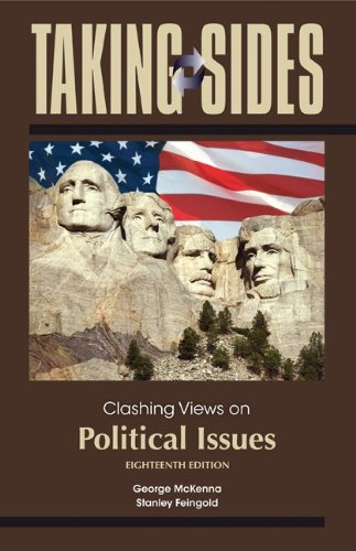 Taking Sides: Clashing Views on Political Issues  18th 2013 edition cover