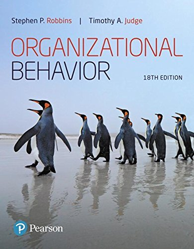 Organizational Behavior  18th 2019 9780134729329 Front Cover