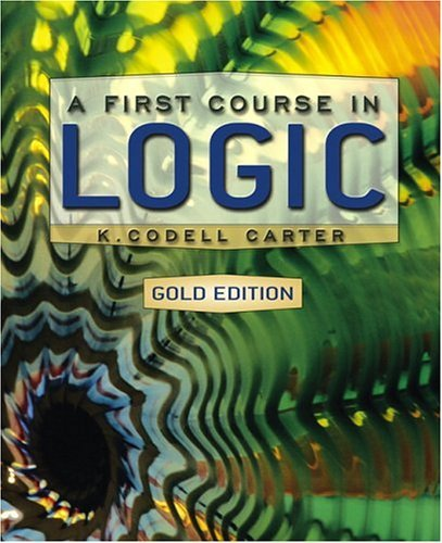 First Course in Logic   2004 edition cover
