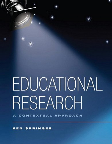 Educational Research A Contextual Approach  2010 edition cover