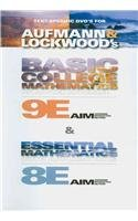 Text-Specific DVD for Aufmann/Lockwood's Basic College Mathematics, 9th  9th 2011 9780538736329 Front Cover