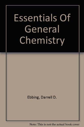 Essentials of General Chemistry  2003 (Student Manual, Study Guide, etc.) 9780618223329 Front Cover