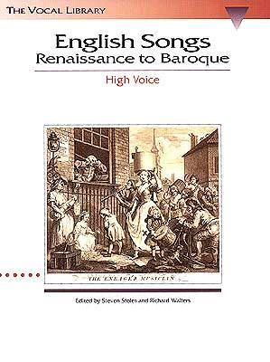 English Songs Renaissance to Baroque N/A edition cover