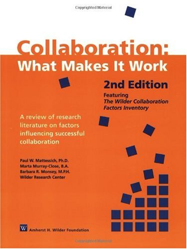 Collaboration What Makes It Work 2nd 2001 edition cover