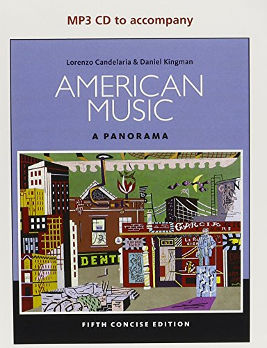 Music CD for Candelaria's American Music: a Panorama, Concise, 5th  5th 2015 (Revised) 9781285758329 Front Cover