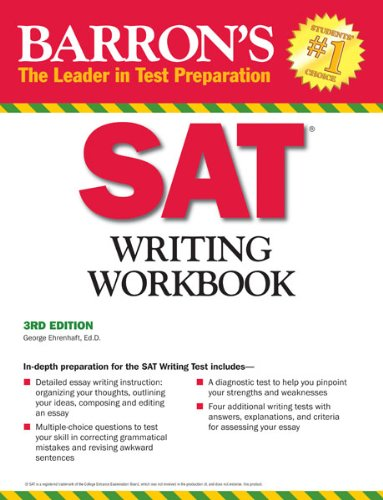 Barron's SAT Writing Workbook, 3rd Edition  3rd 2012 (Revised) edition cover