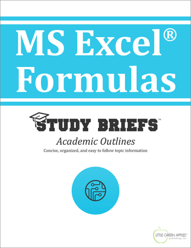 MS Excel® Formulas 1st 2015 9781634260329 Front Cover