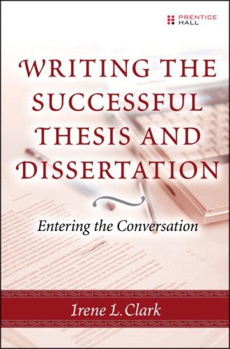 Writing the Successful Thesis and Dissertation Entering the Conversation  2007 edition cover