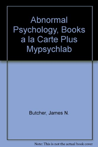 Abnormal Psychology, Books a la Carte Plus MyPsychLab  14th 2010 9780205775330 Front Cover