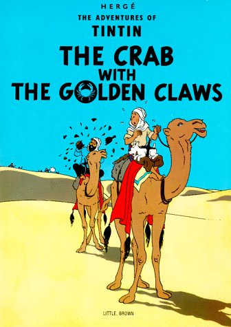 Crab with the Golden Claws  Reprint edition cover