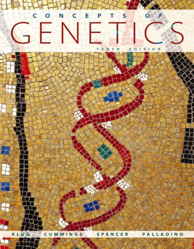 Concepts of Genetics  10th 2012 (Revised) edition cover