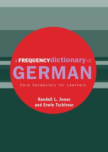 Frequency Dictionary of German Core Vocabulary for Learners  2004 edition cover