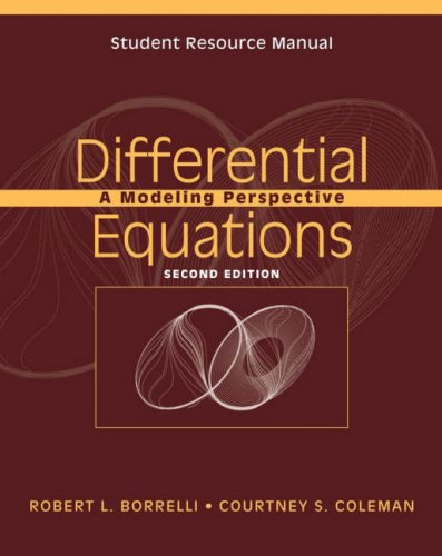 Differential Equations A Modeling Perspective 2nd 2004 edition cover