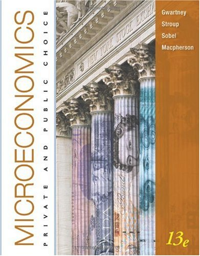 Microeconomics Private and Public Choice 13th 2011 edition cover