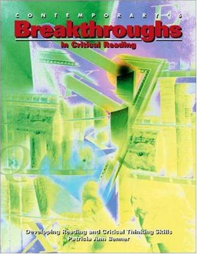 Breakthroughs in Critical Reading   1996 9780809209330 Front Cover