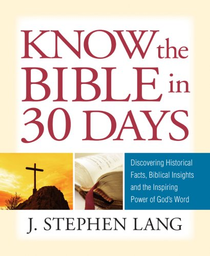 Guideposts Know the Bible in 30 Days   2008 edition cover
