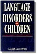 Language Disorders in Children An Introductory Clinical Perspective  1996 edition cover