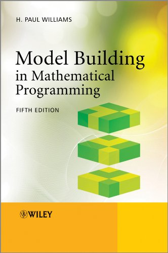 Model Building in Mathematical Programming  5th 2013 edition cover