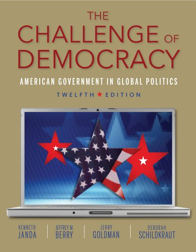 Challenge of Democracy (with Aplia Printed Access Card)  12th 2014 edition cover