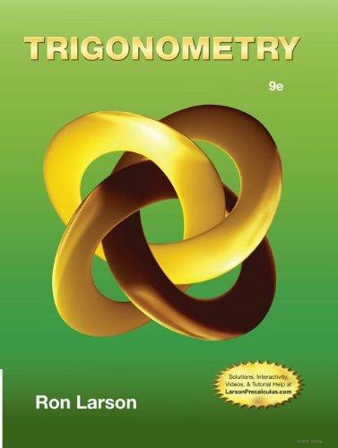 Trigonometry:   2013 edition cover