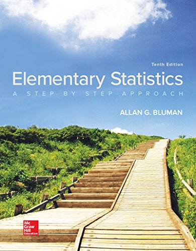 Elementary Statistics: A Step by Step Approach  2017 9781259755330 Front Cover