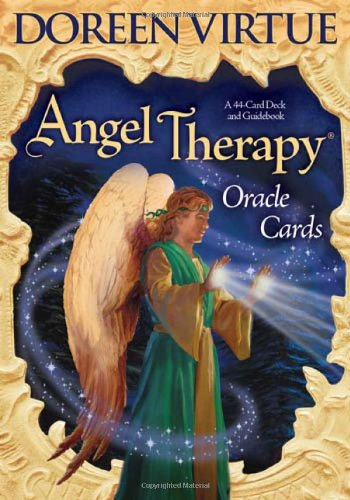 Angel Therapy Oracle Cards A 44-Card Deck and Guidebook N/A 9781401918330 Front Cover